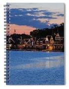 Boathouse Row Dusk Spiral Notebook