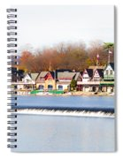 Boathouse Row In Autumn Spiral Notebook