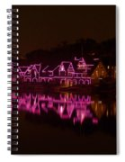 Boathouse Row In Pink Spiral Notebook
