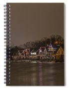 Boathouse Row In The Evening Spiral Notebook