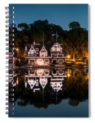 Boathouse Row Panorama Spiral Notebook