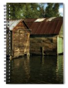 Boathouses On The River Spiral Notebook