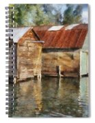 Boathouses On The Torch River Ll Spiral Notebook