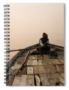 Boating At Sangam Spiral Notebook