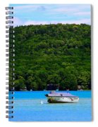 Boating At Sleeping Bear Dunes Lake Michigan Spiral Notebook
