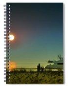 Boating At Sunrise Spiral Notebook