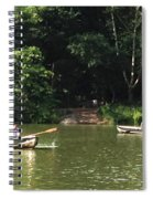 Boating In Central Park Spiral Notebook