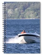 Boating On Grand Traverse Bay Spiral Notebook