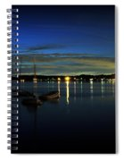Boating - The Marina At Night Spiral Notebook