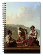 Boatmen On The Missouri Spiral Notebook