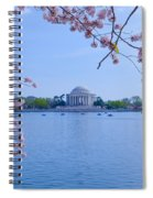 Boats Across The Basin Of Blossoms Spiral Notebook