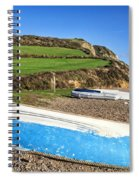 Boats Along Branscombe Beach Spiral Notebook