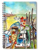 Boats And Boardwalks By Brittany 02 Spiral Notebook