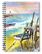 Boats And Boardwalks By Brittany 01 Spiral Notebook