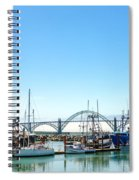 Boats And Bridge Spiral Notebook