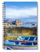 Boats And Floating Islands Spiral Notebook