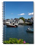 Boats At A Harbor, Nantucket Spiral Notebook