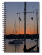 Boats At Beaufort Spiral Notebook