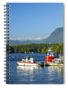 Boats At Dock In Tofino Spiral Notebook