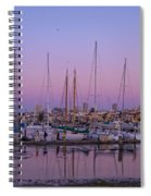 Boats At Dusk 2 Spiral Notebook