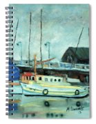 Boats At Provincetown Ma Spiral Notebook