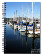 Boats At Rest. Sausalito. California. Spiral Notebook