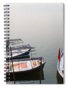 Boats At Sangam Spiral Notebook