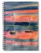 Boats At Skaneateles Lake Ny Spiral Notebook
