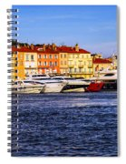 Boats At St.tropez Harbor Spiral Notebook