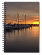 Boats At Sunset Spiral Notebook