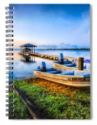 Boats At The Lake Spiral Notebook