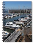 Boats At The San Francisco Pier 39 Docks 5d26004 Spiral Notebook