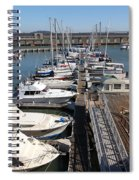 Boats At The San Francisco Pier 39 Docks 5d26005 Spiral Notebook