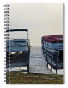 Boats By The Dock Spiral Notebook