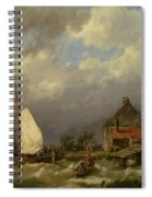 Boats Docking In An Estuary Spiral Notebook