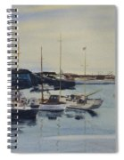 Boats In A Harbour Spiral Notebook