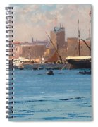Boats In A Port Spiral Notebook