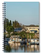 Boats In A River, Walnut Grove Spiral Notebook