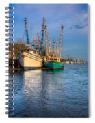 Boats In Blue Spiral Notebook