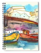 Boats In Ericeira In Portugal Spiral Notebook