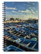 Boats In Essaouira Morocco Harbor Spiral Notebook