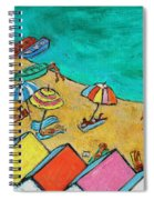 Boats In Front Of The Buildings Ix Spiral Notebook