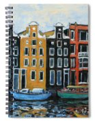 Boats In Front Of The Buildings Vi Spiral Notebook
