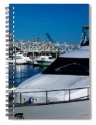 Boats In Port 2 Spiral Notebook