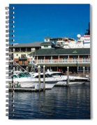 Boats In Port 3 Spiral Notebook