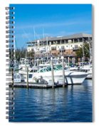 Boats In Port 5 Spiral Notebook