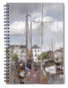 Boats In The Harbor 1905 Spiral Notebook