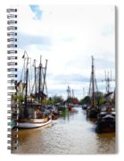 Boats In The Old Harbor Spiral Notebook