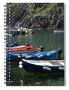 Boats In Vernazza Spiral Notebook