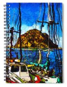 Boats Of Morro Bay Spiral Notebook